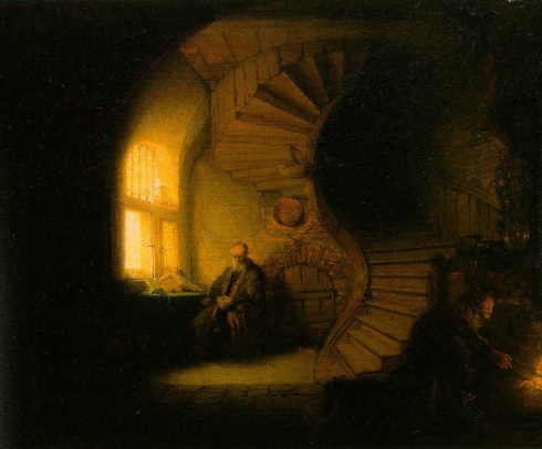 Rembrandt, Philosopher in Meditation