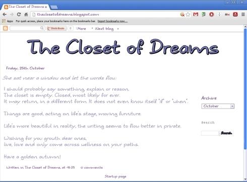 the closet of dreams