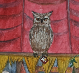 Robo-girl, Owl detail, Image by Deborah Sheehy