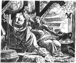 Odin_with_Gunnlöd_by_Johannes_Gehrts