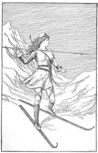 Giantess, Skadi Hunting In the Mountains